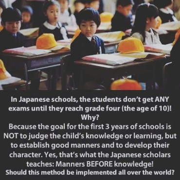 In Japanese Schools…
