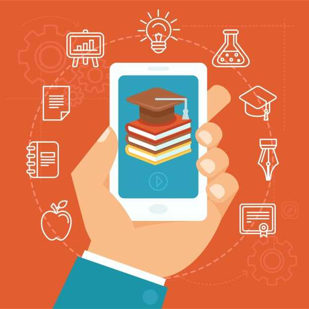 Online course materials on your mobiles