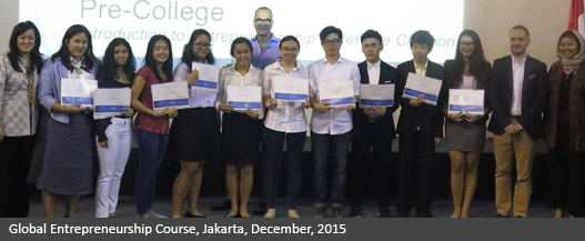 Global Entrepreneurship Course-Jakarta-December-2015