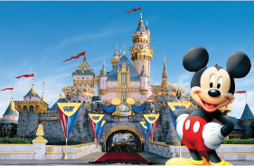 Covering 40 square miles, Walt Disney World  Resort in the US is about the size of San  Francisco or two Manhattan islands