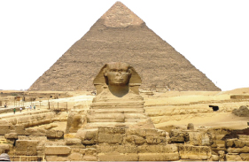 THE GREAT PYRAMIDS WERE ORIGINALLY BRIGHT WHITE