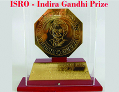 ISRO chosen for Indira Gandhi prize for peace & disarmament