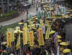 Protesters back on Hong Kong streets