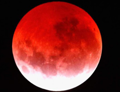 'Blood moon' eclipse dazzles sky watchers in USA