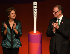 Brazil unveils Olympic torch