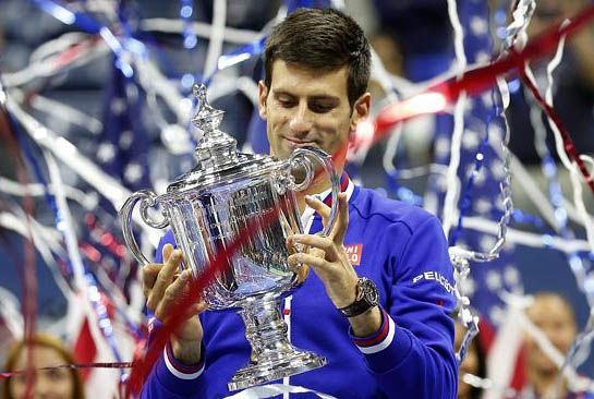 Novak Djokovic has again denied Roger Federer another slice of tennis history to land his second US Open crown in New York. The world No.1 repelled a spirited fight-back from Federer to carve out a 6-4 5-7 6-4 6-4 victory in a riveting final at Flushing Meadows. Djokovic's triumph secured the 28-year-old Serb his 10th grand slam title, placing him alongside American 1920s champion Bill Tilden in equal seventh place on the all-time men's grand slam leaderboard. While Federer has managed just one grand slam crown in almost six years, Djokovic has now amassed nine in that time.