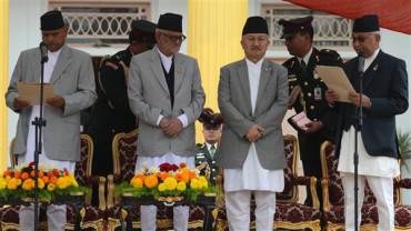 Oli sworn in as Nepal Prime Minister