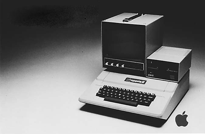 The Apple II had a hard drive of only 5 megabytes when it was launched.