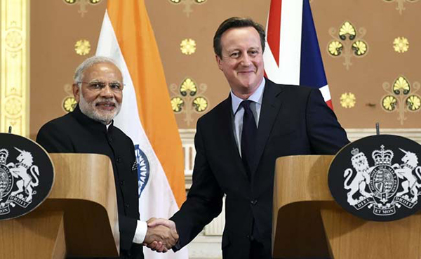"""India and the UK have announced deals worth 9-billion pounds as they signed a civil nuclear pact and decided to collaborate in the field of defence and cyber security besides launching a railway rupee bond.British Prime Minister David Cameron described the relations between the two sides as a """"new dynamic modern partnership"""" and reiterated his country's support for India's permanent membership of the UN Security Council. The UK ranks 18th in the list of India's top 25 trading partners and two-way trade in 2014-15 stood at $14.34 billion. The UK is the third largest inward investor in India, after Mauritius and Singapore, with a cumulative equity investment of $22.26 billion between 2000-2015."""