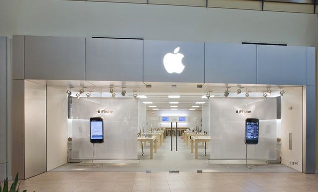 Apple has 475 retail stores in 17 countries, as of 2016