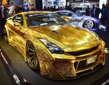 Gold-plated car worth $1 million