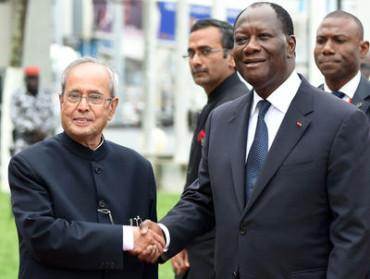 President Mukherjee awarded Cote d'Ivoire top honour