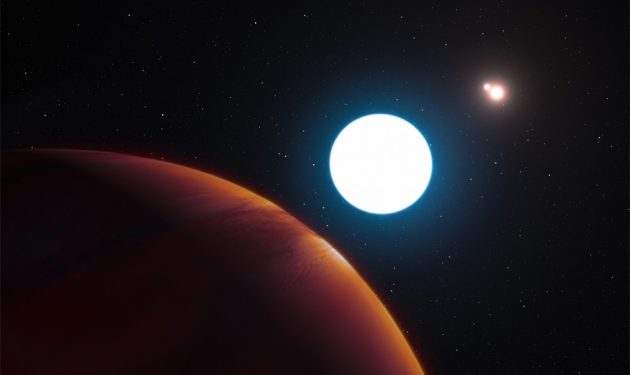 Exoplanet orbiting three stars discovered