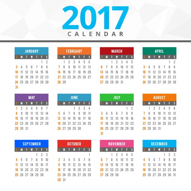 In 2017, you can re-use calendars from the years 2006, 1995, 1989, 1978, 1967, 1961, 1950, 1939, 1933, and 1922.