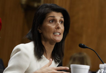 Nikki Haley confirmed as new US envoy to UN
