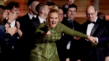 Adele wins five Grammys including Album Of The Year