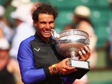 Nadal first in Open Era to win a single Grand Slam 10 times