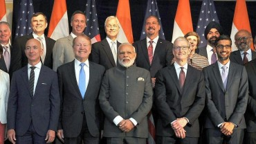 PM Modi meets Google, Apple and Amazon CEOs in the US