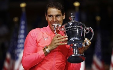 World number one Rafael Nadal wins his third US Open title
