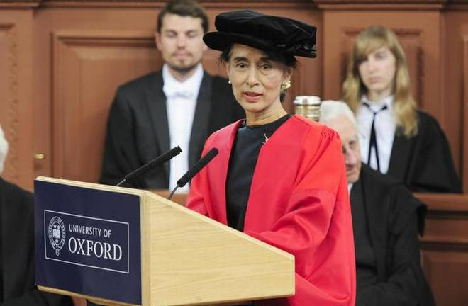 Aung Suu Kyi stripped of Oxford honour
