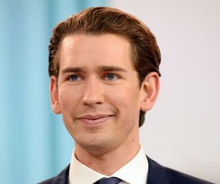 Austria swears in Europe's youngest leader