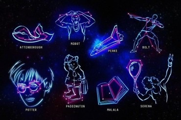 New constellations named after Harry Potter, Malala & Bolt