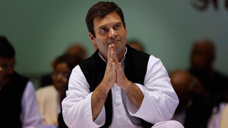 Rahul Gandhi officially declared Congress president