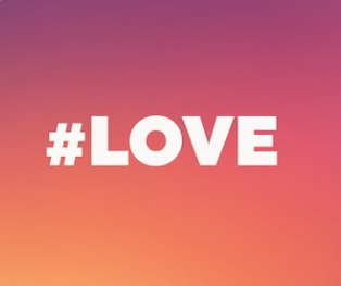 '#love' was the most used hashtag on Instagram this year