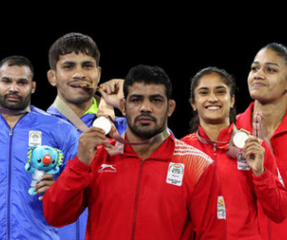 All Indian wrestlers at CWG 2018 win medals