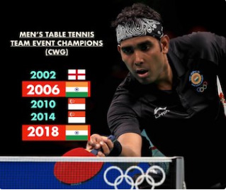 India win men's TT team gold medal at CWG after 12 years
