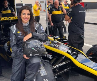 Saudi woman drives F1 car to mark end of women's driving ban