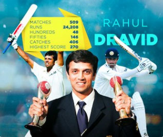 Dravid fifth Indian to be inducted into ICC Hall of Fame