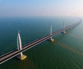 The world's longest sea-crossing bridge spanning 55km opens in China