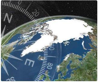 North magnetic pole shifting 50 km/yr