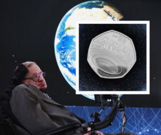 UK unveils coin with black hole in honour of Stephen Hawking