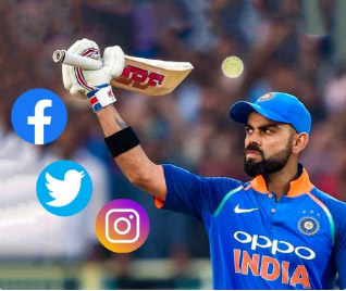 Kohli first cricketer to have 100 million followers on social media