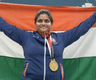 Shooter Rahi Sarnobat wins gold in WORLD CUP