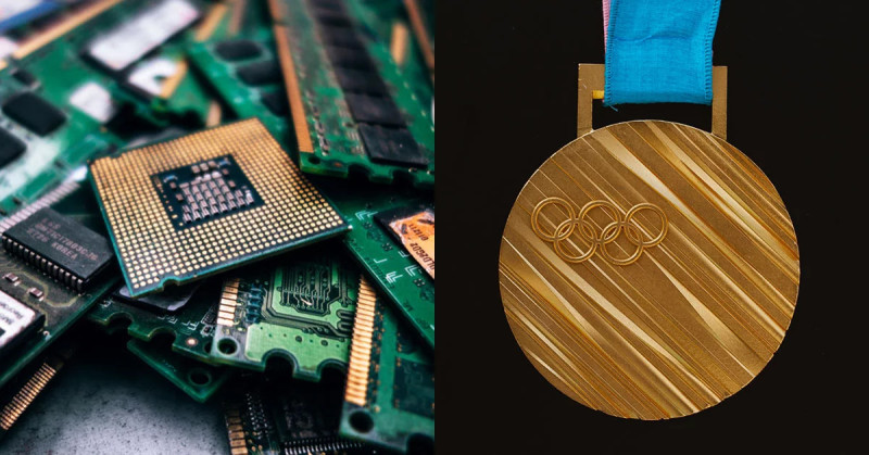 Tokyo 2020 Olympic medals made from recycled e-waste unveiled
