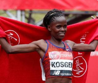 Kenya's Kosgei wins women's half marathon in world best time