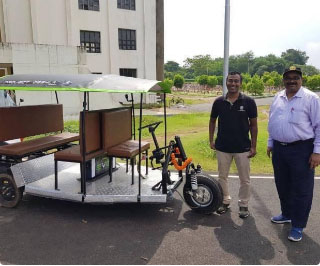 IIT-Kharagpur students build home-rechargeable three-wheeler