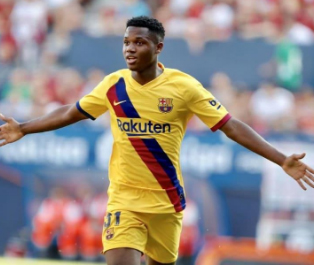 16-yr-old Fati becomes Barca's youngest goal-scorer in La Liga