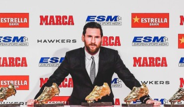 Messi wins 6th Golden Shoe award