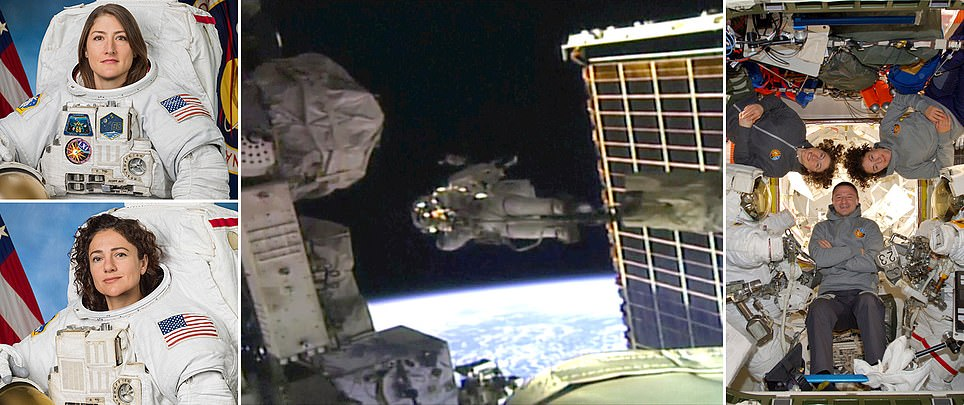 Humanity's 1st-ever only-female spacewalk completed successfully