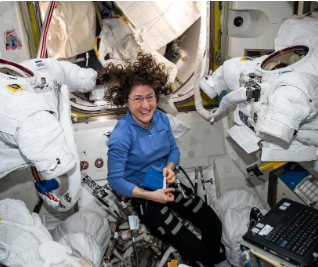 Christina Koch breaks record for longest single spaceflight by a woman