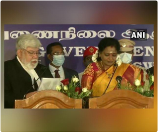 Tamilisai Soundararajan takes additional charge as Puducherry L-G