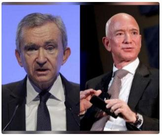 Bernard Arnault & family overtake Bezos as the world's richest